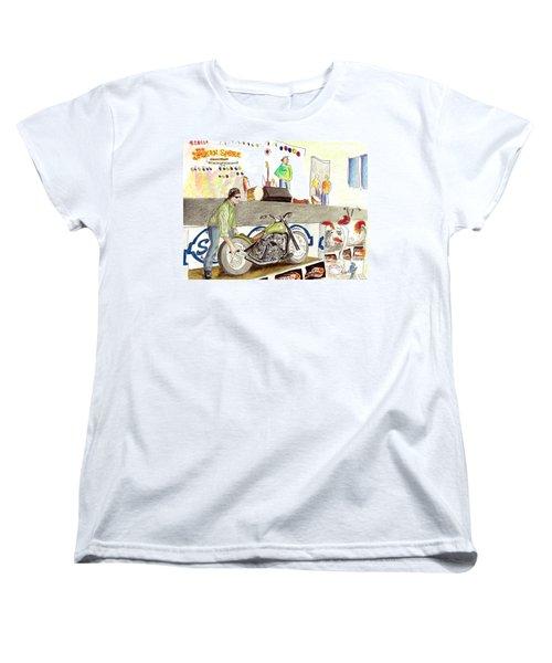 Jay Allen At The Broken Spoke Saloon Women's T-Shirt (Standard Cut) by Albert Puskaric