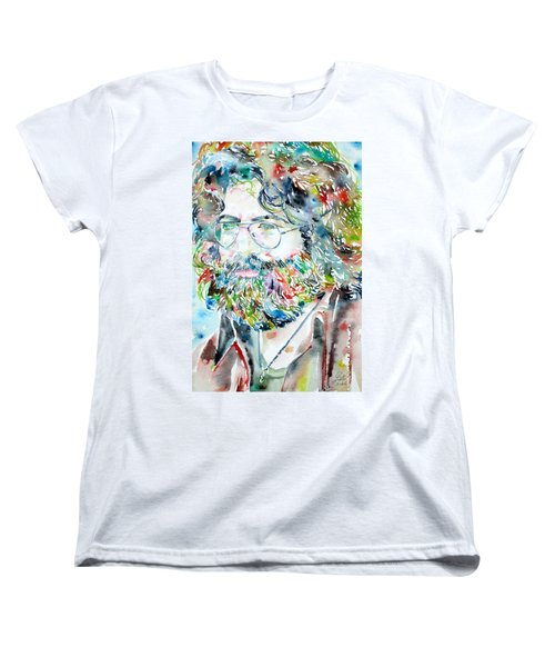 Jerry Garcia Watercolor Portrait.2 Women's T-Shirt (Standard Cut)