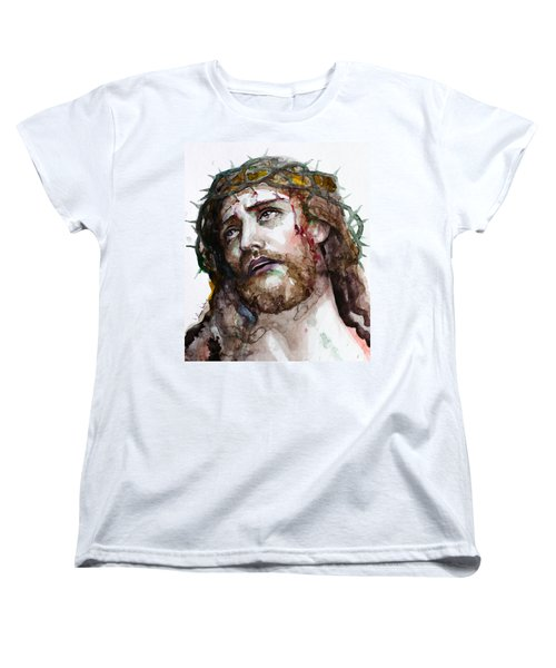 Women's T-Shirt (Standard Cut) featuring the painting The Suffering God by Laur Iduc