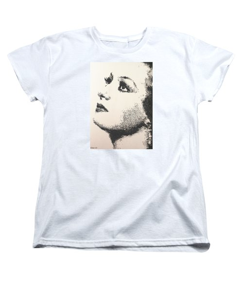 Women's T-Shirt (Standard Cut) featuring the painting Joan Crawford by Cherise Foster