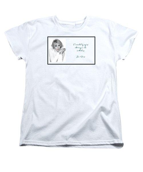 Joan Rivers Women's T-Shirt (Standard Cut) by Maciek Froncisz