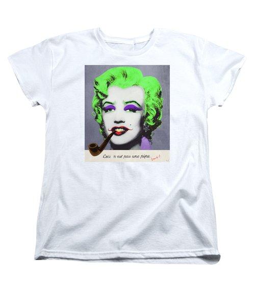 Joker Marilyn With Surreal Pipe Women's T-Shirt (Standard Cut) by Filippo B