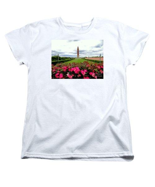 Jones Beach Water Tower Women's T-Shirt (Standard Cut) by Ed Weidman