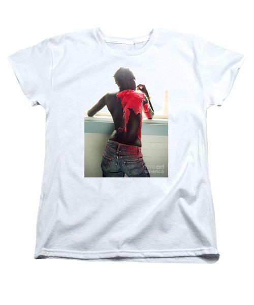 Josephine Red Women's T-Shirt (Standard Cut) by Rebecca Harman