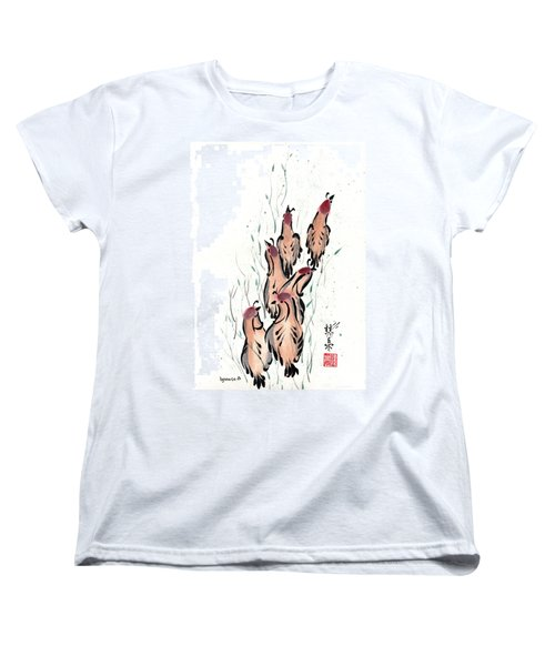 Women's T-Shirt (Standard Cut) featuring the painting Joyful Excursion by Bill Searle