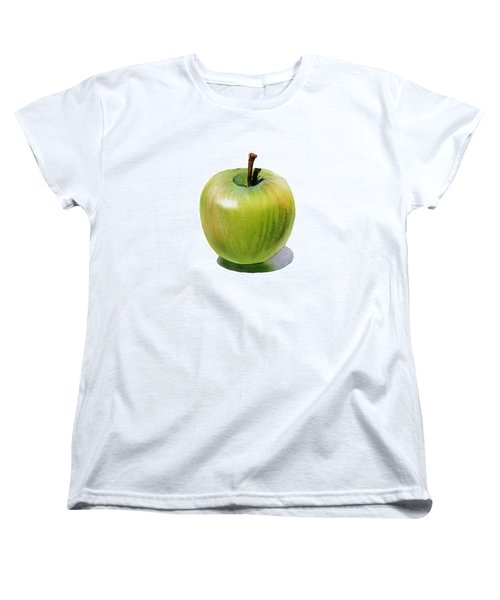 Women's T-Shirt (Standard Cut) featuring the painting Juicy Green Apple by Irina Sztukowski