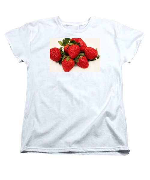 Juicy Strawberries Women's T-Shirt (Standard Cut) by Barbara Griffin
