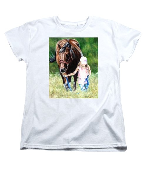 Just A Girl And Her Horse Women's T-Shirt (Standard Cut) by Shana Rowe Jackson