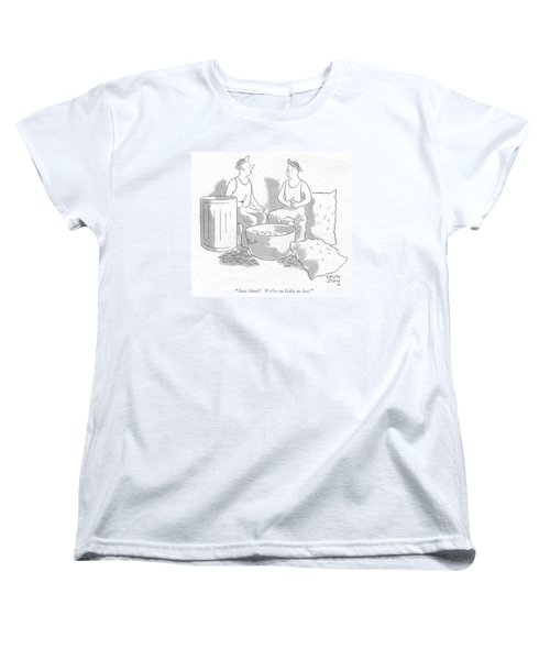Just Think! We're In Italy At Last Women's T-Shirt (Standard Cut)