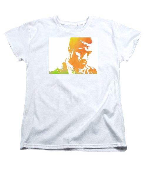 Kanye West Pop Art Women's T-Shirt (Standard Cut) by Dan Sproul