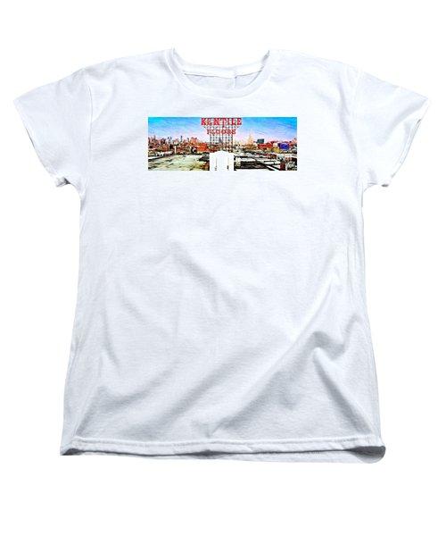 Kentile Floors Women's T-Shirt (Standard Cut) by Lilliana Mendez