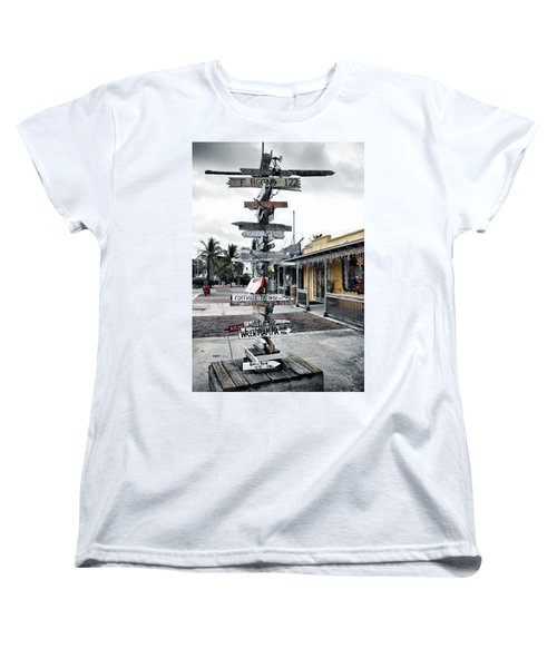 Key West Wharf Women's T-Shirt (Standard Cut) by Ellen Heaverlo