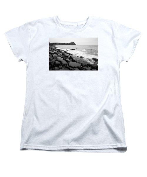 Kimmeridge Bay In Black And White Women's T-Shirt (Standard Cut)