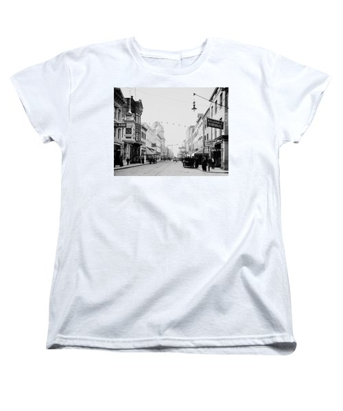 King Street In Charleston South Carolina Circa 1910 Women's T-Shirt (Standard Cut) by Mountain Dreams