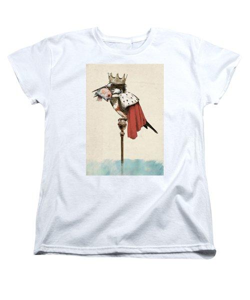 Kingfisher Women's T-Shirt (Standard Cut) by Eric Fan