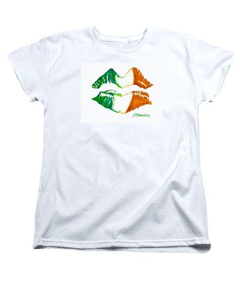 Kiss Me I'm Irish Women's T-Shirt (Standard Cut) by D Renee Wilson