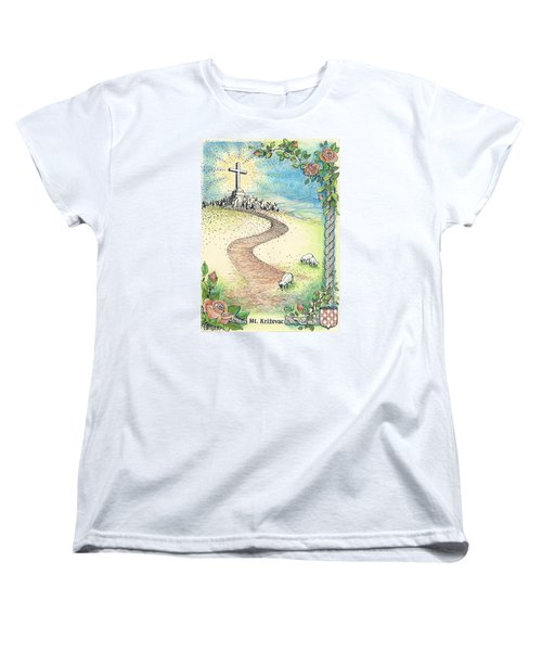 Krizevac - Cross Mountain Women's T-Shirt (Standard Cut) by Christina Verdgeline