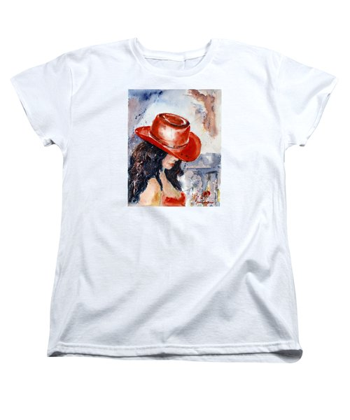 The Red Hat Women's T-Shirt (Standard Cut) by Genevieve Brown