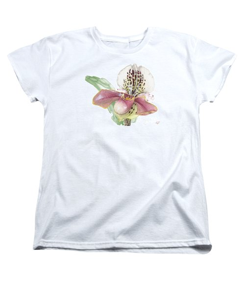 Ladys Slipper - Orchid 14 - Elena Yakubovich Women's T-Shirt (Standard Cut) by Elena Yakubovich