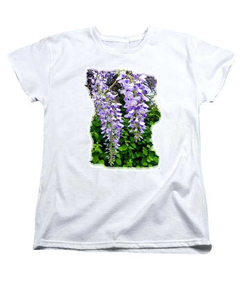 Lake Country Wisteria Women's T-Shirt (Standard Cut) by Will Borden