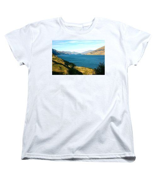 Women's T-Shirt (Standard Cut) featuring the photograph Lake Hawea by Stuart Litoff