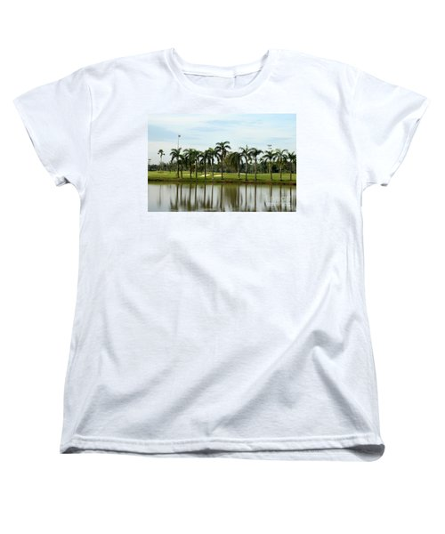 Lake Sand Traps Palm Trees And Golf Course Singapore Women's T-Shirt (Standard Cut) by Imran Ahmed