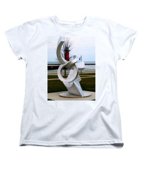 Lakeside Art Women's T-Shirt (Standard Cut) by Kay Novy
