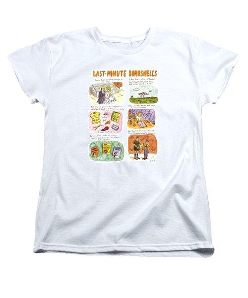 Last-minute Bombshells Women's T-Shirt (Standard Cut) by Roz Chast