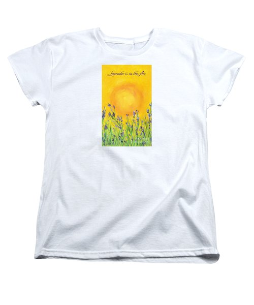 Lavender In The Air Women's T-Shirt (Standard Cut) by Val Miller