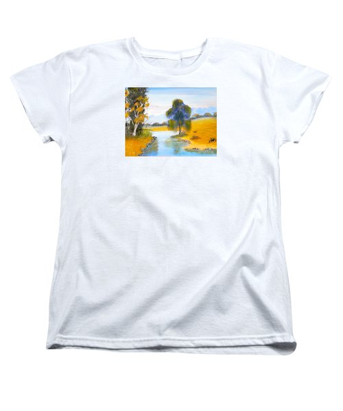 Women's T-Shirt (Standard Cut) featuring the painting Lawson River by Pamela  Meredith