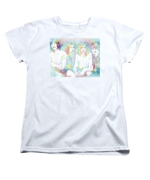 Led Zeppelin Tie Dye Women's T-Shirt (Standard Cut) by Dan Sproul