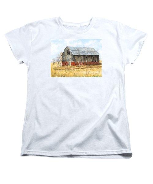 Left Behind Women's T-Shirt (Standard Cut) by Barbara Jewell