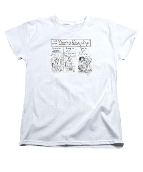 Lesser-known 'conscious Uncouplings Three Panels Women's T-Shirt (Standard Cut)