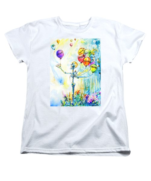 Women's T-Shirt (Standard Cut) featuring the painting Letting Go by Heather Calderon