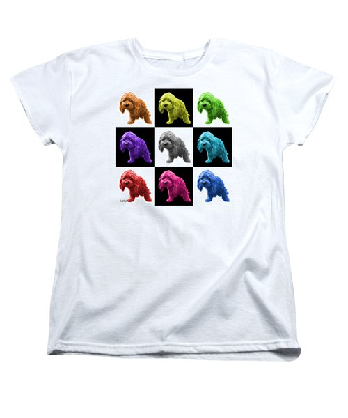 Lhasa Apso Pop Art - 5331 - V2- M Women's T-Shirt (Standard Cut) by James Ahn