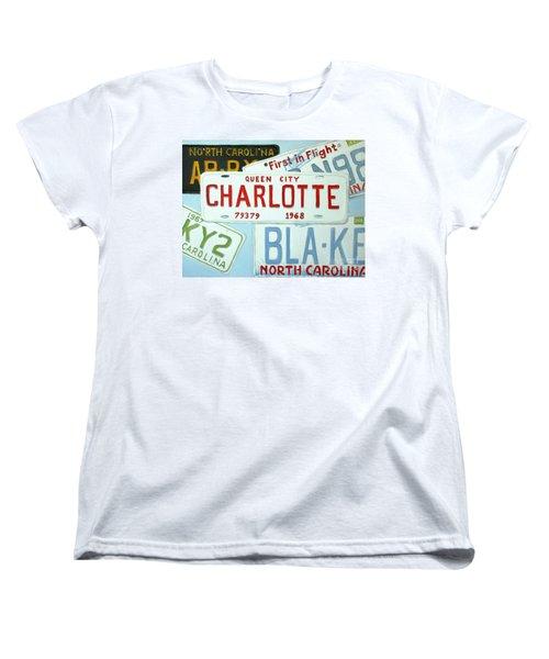 License Plates Women's T-Shirt (Standard Cut) by Stacy C Bottoms