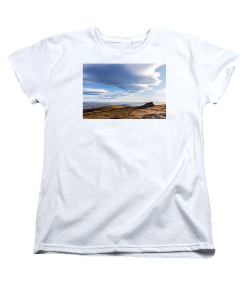 Lightfall On Djouce Mountain Summit Women's T-Shirt (Standard Cut) by Semmick Photo