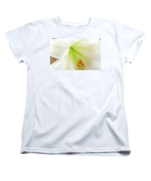 Lily Stamen Women's T-Shirt (Standard Cut) by Fortunate Findings Shirley Dickerson