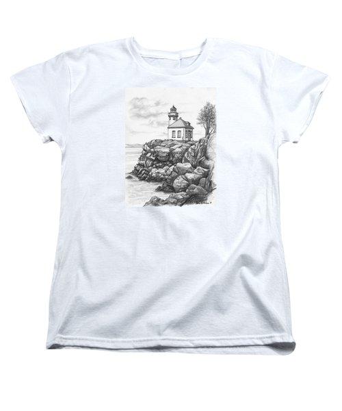 Lime Kiln Lighthouse Women's T-Shirt (Standard Cut) by Kim Lockman