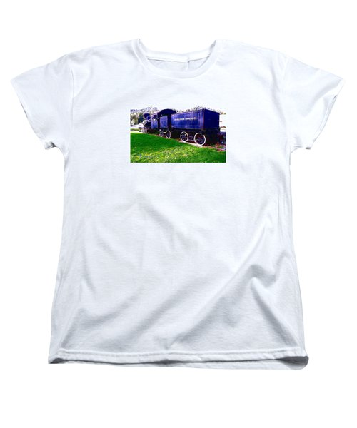 Women's T-Shirt (Standard Cut) featuring the photograph Locomotive Steam Engine by Sadie Reneau