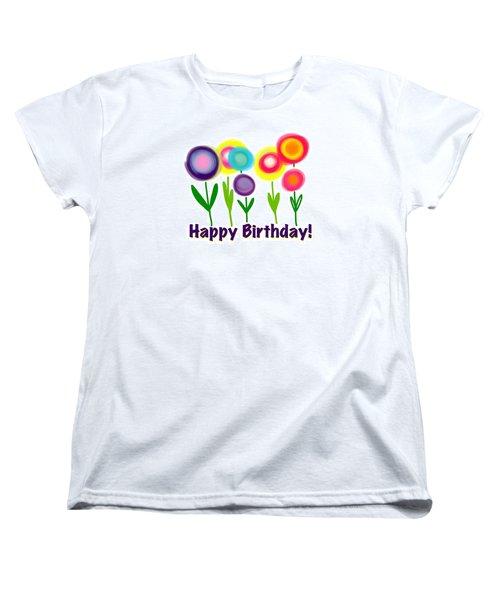 Women's T-Shirt (Standard Cut) featuring the digital art Lollipop Flowers  by Christine Fournier