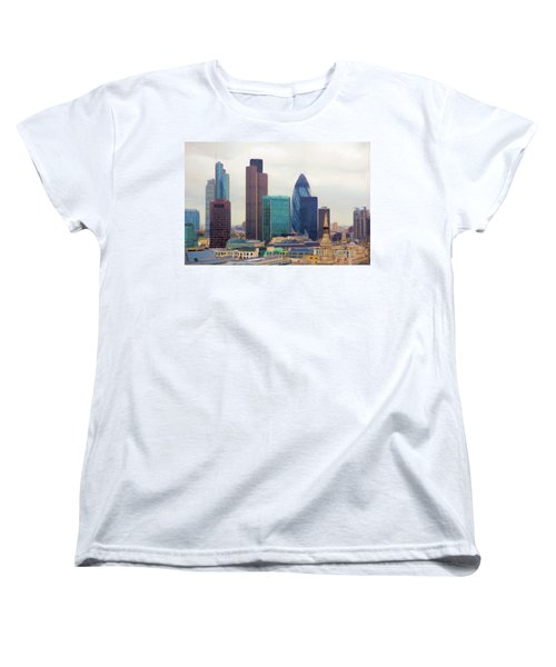 London Skyline Women's T-Shirt (Standard Cut) by Ron Harpham
