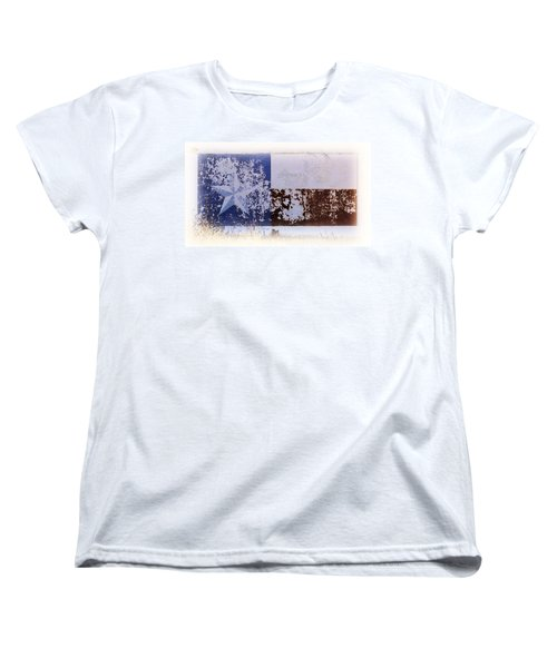 Women's T-Shirt (Standard Cut) featuring the photograph Lone Star Flag Mural by Nadalyn Larsen