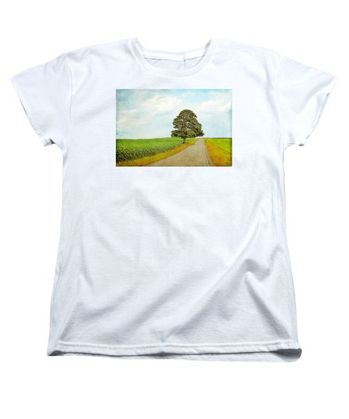Women's T-Shirt (Standard Cut) featuring the photograph Lone Tree by Brooke T Ryan