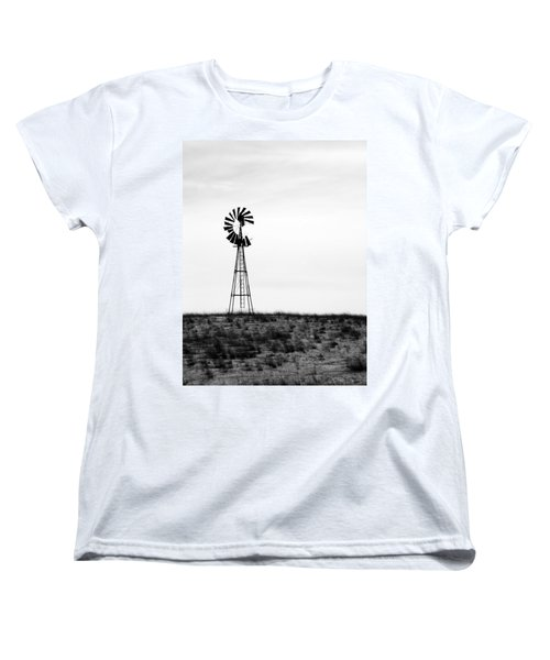 Women's T-Shirt (Standard Cut) featuring the photograph Lone Windmill by Cathy Anderson