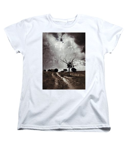 Lonely Tree Women's T-Shirt (Standard Cut) by Mark David Gerson