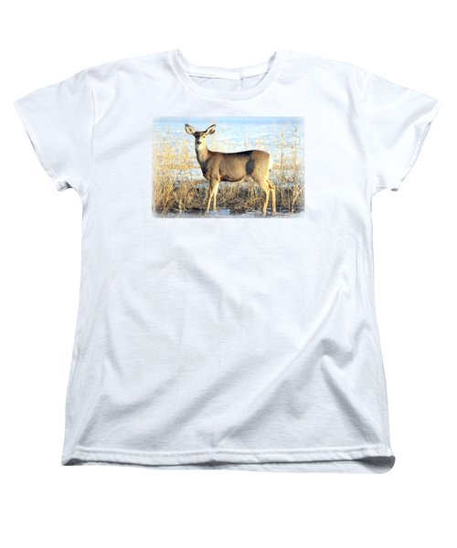 Women's T-Shirt (Standard Cut) featuring the photograph Lonesome Doe Sunset by Barbara Chichester