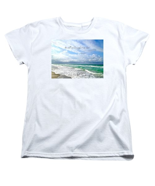 Women's T-Shirt (Standard Cut) featuring the photograph Be Still by Margie Amberge