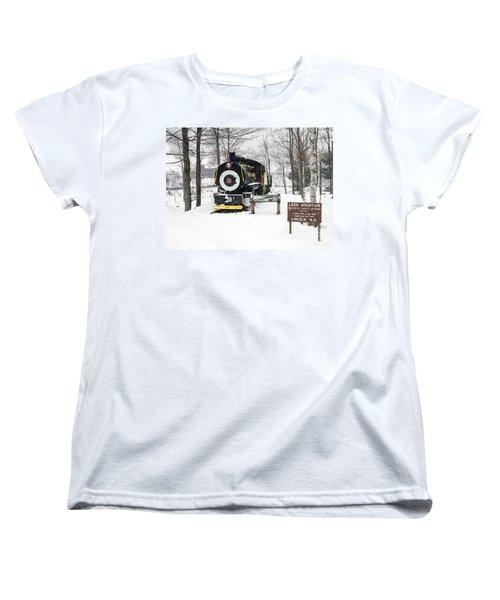 Loon Mountain Train Women's T-Shirt (Standard Cut) by Glenn Gordon