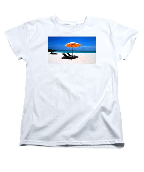 Women's T-Shirt (Standard Cut) featuring the photograph Lounging By The Sea by Joey Agbayani